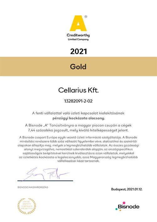 2021014 Cellarius Kft.m 2021 - Bisnode gold tanúsítvány - Hogy működik? - 1